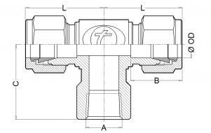 CHT. Threated Female Tee (NPT & BSP) or Socket Weld (SW) RUN DESIGN