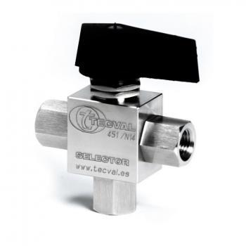 SELECTOR. Válvula de bola 2 y 3 vías para alta presión (HxH) Presiones de trabajo: 100 | 210 bar (1500 | 3000 PSI)