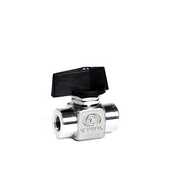 VB-08. Válvula de bola 2 vías miniatura (HxH) Presión de trabajo 50 bar (725 PSI)